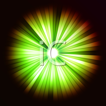 Royalty Free Clipart Image of Beams of Light