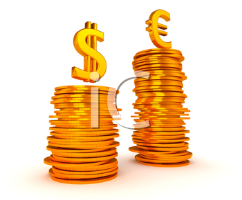Royalty Free Clipart Image of Currency Inequality