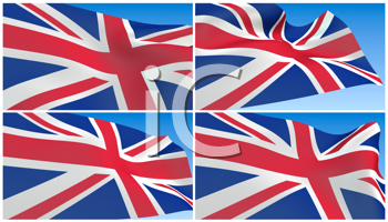 Royalty Free Clipart Image of Great Britain's Flag