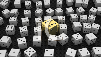 Royalty Free Clipart Image of a Background of Die