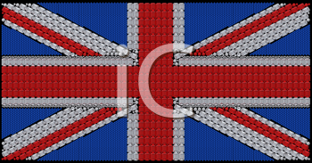 Royalty Free Clipart Image of Great Britain Flag Made of Diamonds