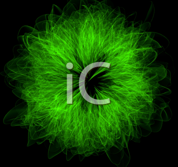 Royalty Free Clipart Image of an Abstract Green Design