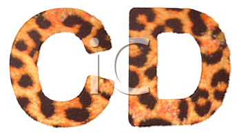 Royalty Free Clipart Image of Leopard Print C and D