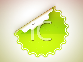 Royalty Free Clipart Image of a Green Sticker