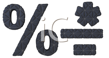 Royalty Free Clipart Image of Leather Fonts