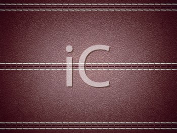 Royalty Free Clipart Image of a Maroon Stitched Leather Background