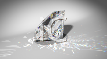 Royalty Free Clipart Image of a Large Diamond