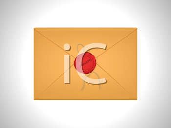 Royalty Free Clipart Image of a Sealed Letter