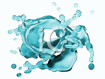 Royalty Free Clipart Image of a Water Background