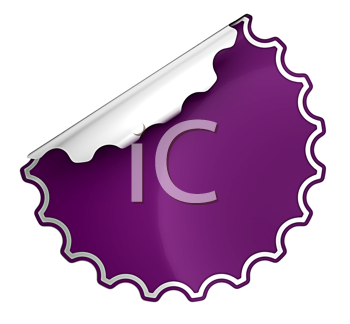Royalty Free Clipart Image of a Purple Sticker