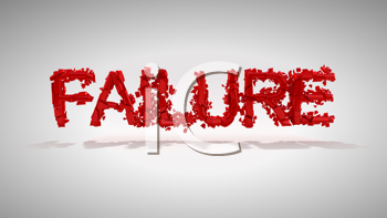 Royalty Free Clipart Image of the Word Failure