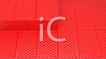 Royalty Free Clipart Image of Red Mattresses