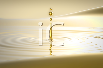 Royalty Free Clipart Image of a Splash of Water Background