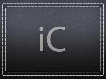 Royalty Free Clipart Image of a Black Stitched Leather Background