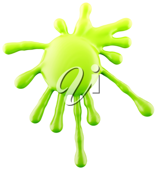 Splash of green ink or paint isolated on white. Large resolution