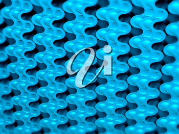 Blue Wavy Scales pattern or texture. Useful for design