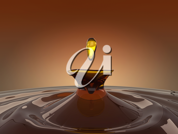 Drinks: splash and drop of brandy. Large resolution