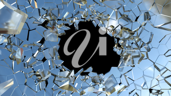 Royalty Free Clipart Image of Shattered Glass