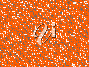 Polka dot background with grey and white circles over orange. Large size