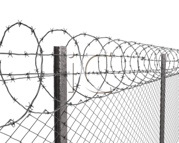 Royalty Free Clipart Image of a Chainlink Fence