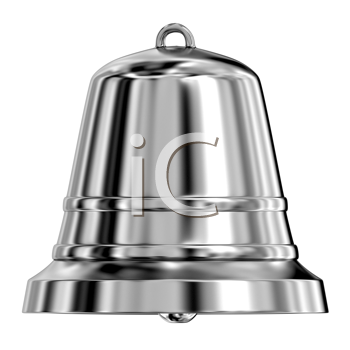 Royalty Free Clipart Image of a Metal Bell