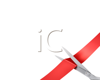 Royalty Free Clipart Image of Scissors Cutting Ribbons