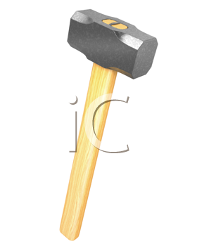 Royalty Free Clipart Image of a Mallet