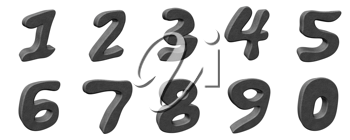 Royalty Free Clipart Image of 3D Numbers