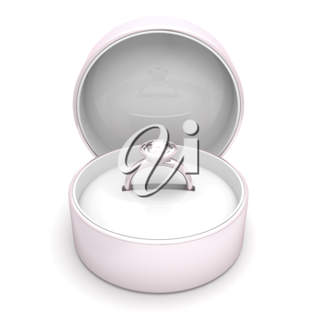 Royalty Free Clipart Image of a Ring in a Case