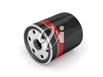 Royalty Free Clipart Image of an Automobile Oil Filter