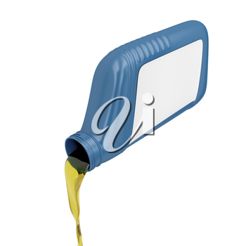 Royalty Free Clipart Image of Motor Oil Being Poured