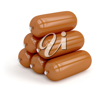 Royalty Free Clipart Image of Sausages