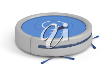Royalty Free Clipart Image of a Robot Vacuum Cleaner
