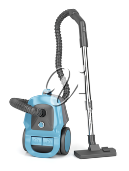 Modern vacuum cleaner on white background