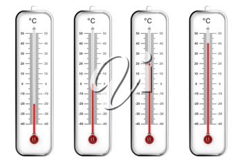 Indoor thermometers with different levels - Celsius scale