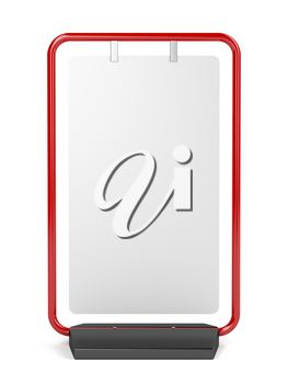 Front view of advertising stand on white background