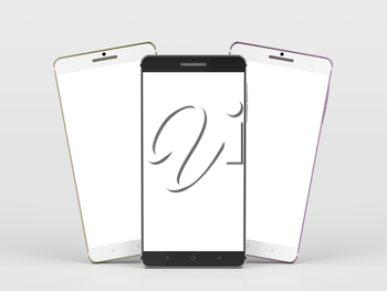 Smartphones with different colors with blank white screens