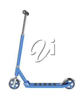 Side view of kick scooter, isolated on white background