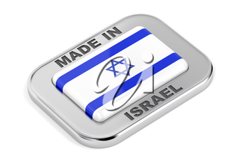 Made in Israel, badge on white background