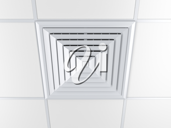 Air vent on a ceiling, 3D illustration
