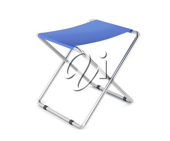 Folding stool on white background