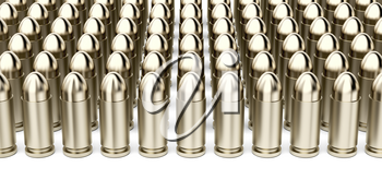 Many rows with bullets on white background