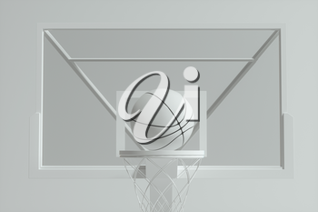 3D model of basketball stands, 3d rendering. Computer digital drawing.
