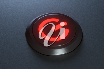Button and switch with dark background,abstract conception ,3d rendering. Computer digital drawing.