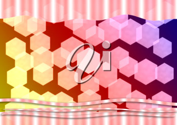 Royalty Free Clipart Image of an Abstract Hexagon Background