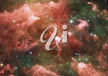 Far space being shone nebula as abstract background