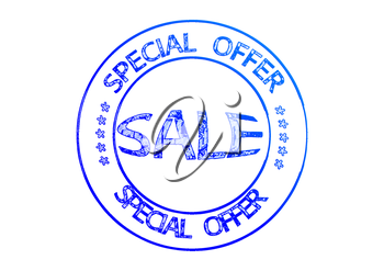 Rubber stamp SALE special offer. 3D illustration.