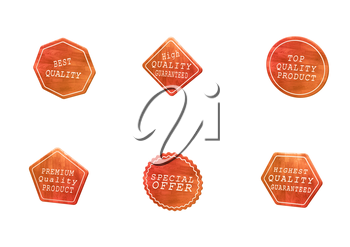 High Quality set of Sale product badges isolated on white. 3D rendering.