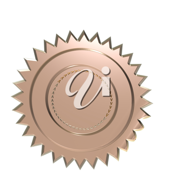 Royalty Free Clipart Image of a Blank Badge