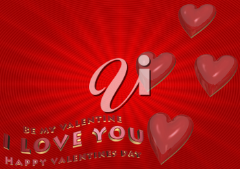 Royalty Free Clipart Image of Valentine Background